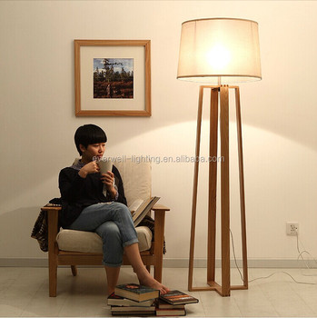 Natural Wood Four Legs Modern Led Standing Floor Lamp For Living Room - Buy  Fluorescent Floor Standing Lamp,Antique Floor Standing Lamps,Modern Led ...