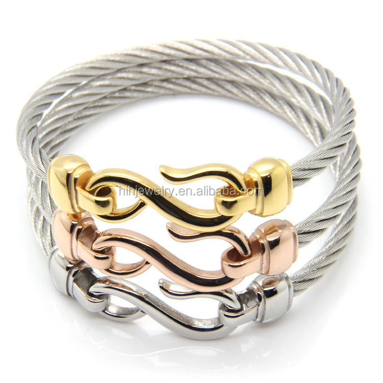 styles twisted triple bangle set bangles cable wrist shop