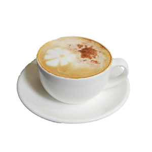 OXGIFT China Wholesale Factory Price custom ceramic Cappuccino white porcelain coffee tea cup and saucer set