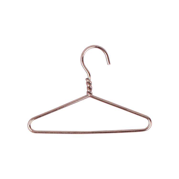 Custom doll mini hanger clip for gift gold hanger paper clip