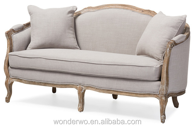 wohnzimmer m bel franz sisch landhausstil holz leinen sofa polster chesterfield sofa wohnzimmer. Black Bedroom Furniture Sets. Home Design Ideas