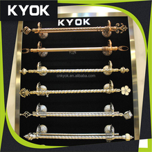 Fashion extendable curtain pipe/rod set, simple curtain finials,wholesale curtain track / bracket/ rail/ hook / ring