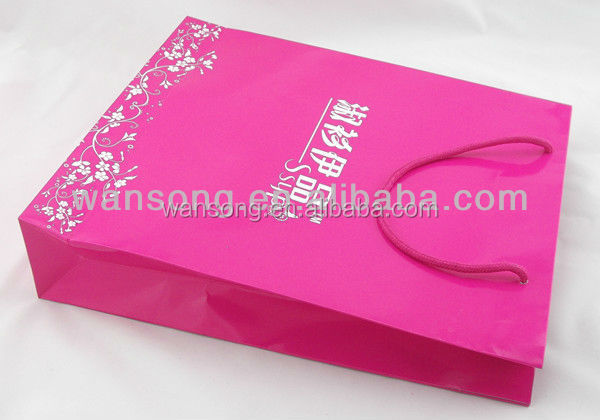 Made in China high quality branded logo printing paper shopping bags,paper carrier bags,laminated paper bag