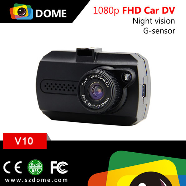 Mini dashboard camera V10 1.5 inch display Jieli chipset full hd 1080P car camcorder