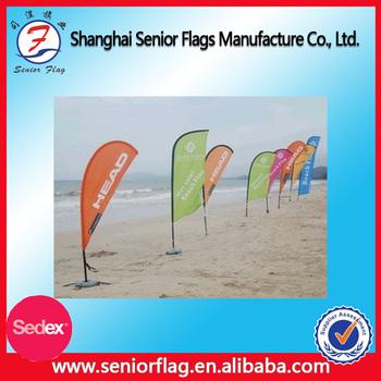Outdoor Custom Printing Beach Flag Aluminium Flagpole Material And ...