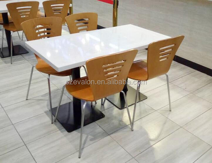 restaurant Dining acrylic stone talbe chair from china supplier, KFC table