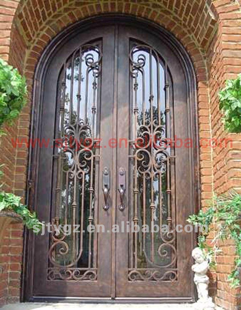ingresso porte di sicurezza in ferro battuto disegni-porta-id ... - Legno Di Teak Porta Dingresso Di Fusione