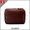 OEM High Quality Mens Leather Wash Bag Stylish Travel Toiletry Bag in large capacity