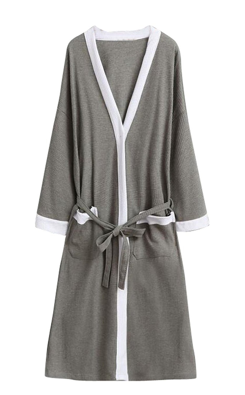 e0b9975991 Get Quotations · MLG Mens Comfy Cotton Lightweight Kimono Spa Sleepwear  Bathrobes