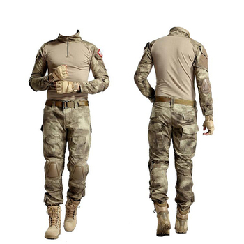Custom Iran Tactical ACU Army Military Uniform Camouflage, Combat Trousers With Knee Pad