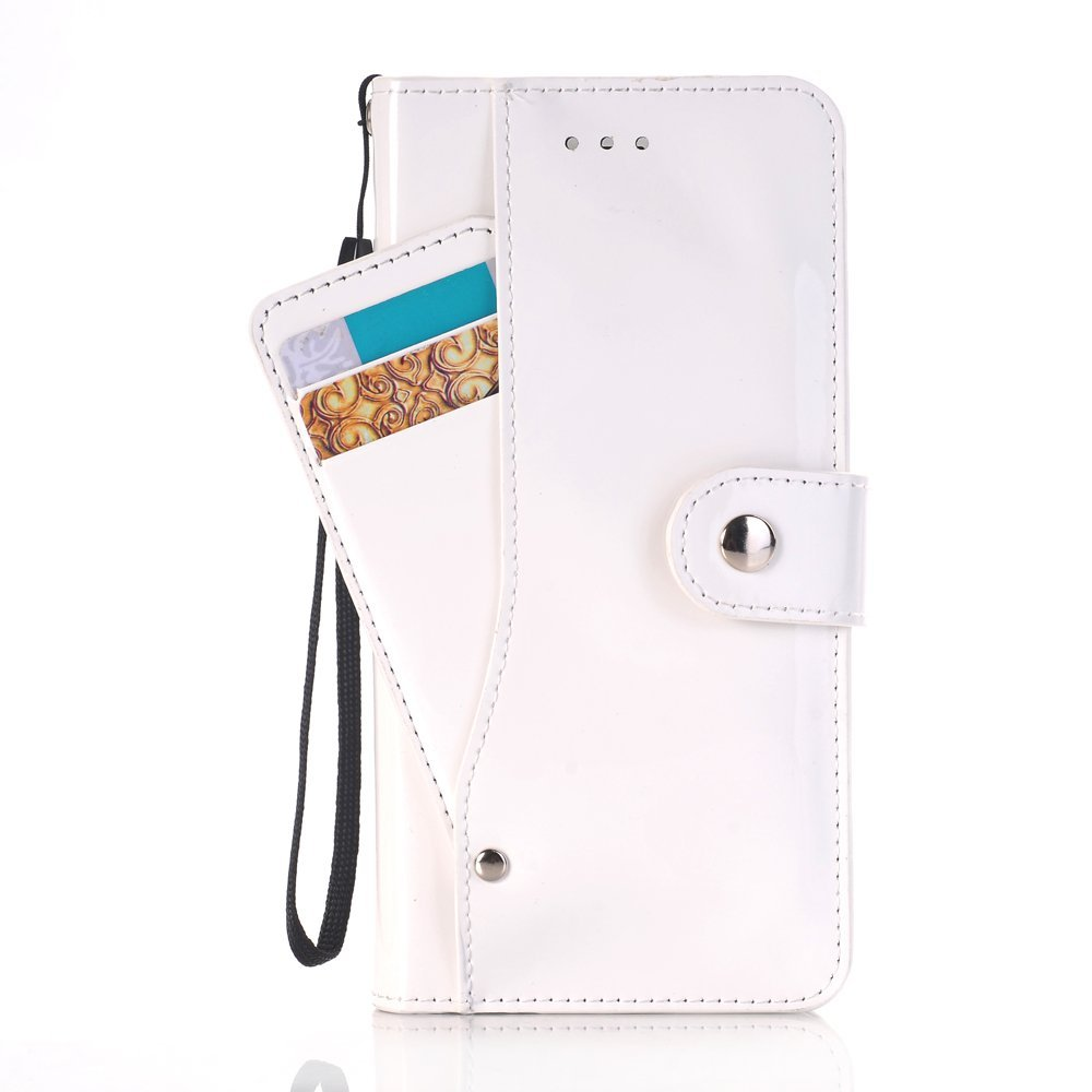 iPhone 7 Plus Wallet Case,SAVYOU iPhone 7 Plus Wallet Card Slot Holder Series Slim Premium Flip PU Leather Wallet Folio Stand Protective Case Cover for iPhone 7 Plus 5.5inch(White)