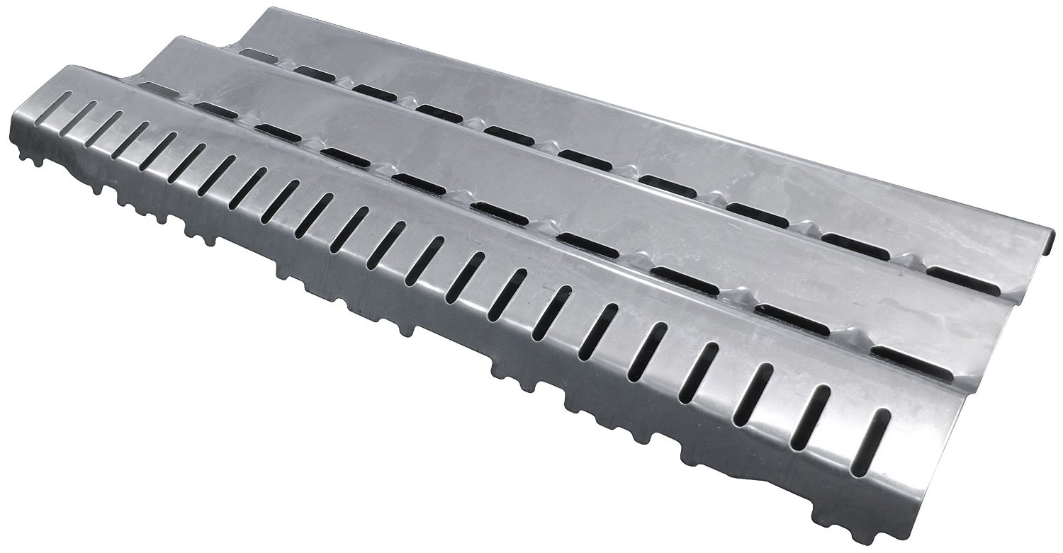 Music City Metals 94881 Stainless Steel Heat Plate Replacement for Select Gas Grill Models by Broil King, Broil-Mate and Others