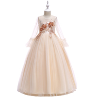 Girl New Arrival Fashion 14 Yrs Old Kids Simple Design Long Frock Party Wear Dress LP-215