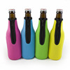 Customized logo and color waterproof neoprene beer bottle cooler sleeve
