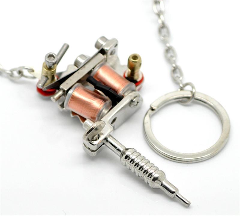 1pc Fashion Charms Mini Tattoo Machine Model Key Chains Key Ring Gift New y
