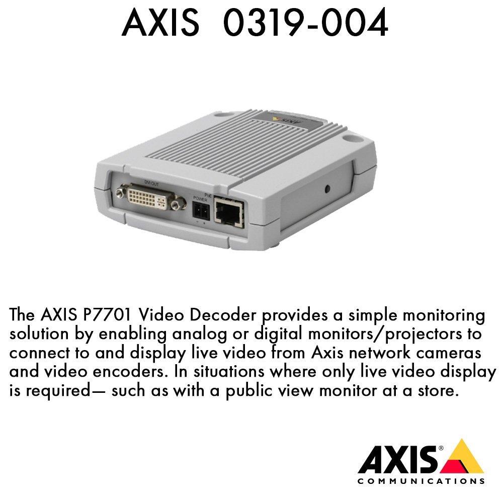 AXIS 0319-004 P7701 Video Decoder