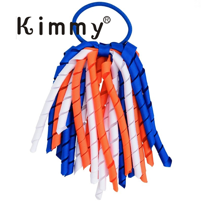 20cm Personalized Korker Ribbon Bow Trim Ponytail Holder for Cheerleader