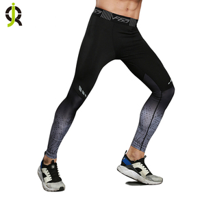 Fashion Reflective Sports Pants Sublimation Printing Gym Wear Quick Dry Workout Compression Tights Men's Gym Athletic Leggings
