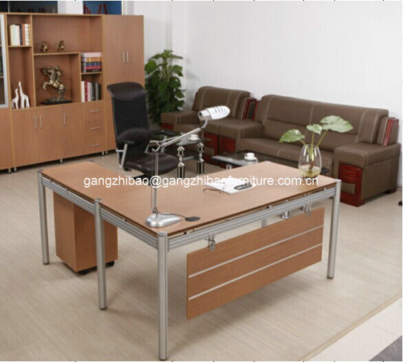 2014 office wooden manager desk in melimine B-206
