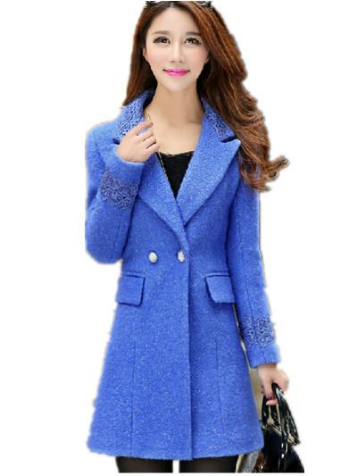 fc857e168c24a Get Quotations · Free Shipping 2015 Autumn Winter Women Mdium Long Woolen  outerwear