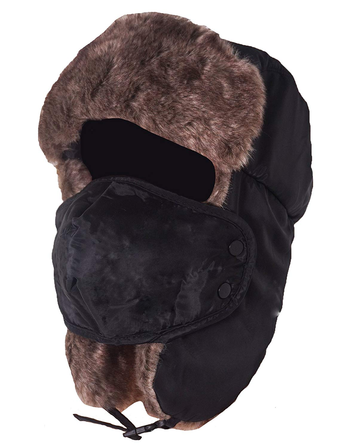 28d91e95b1957 Get Quotations · West s Unisex Winter Trooper Trapper Hat Hunting Hat  Ushanka Ear Flap Chin Strap with Windproof Mask