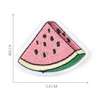 fast shipping iron on simulation embroidery watermelon patch for clothes