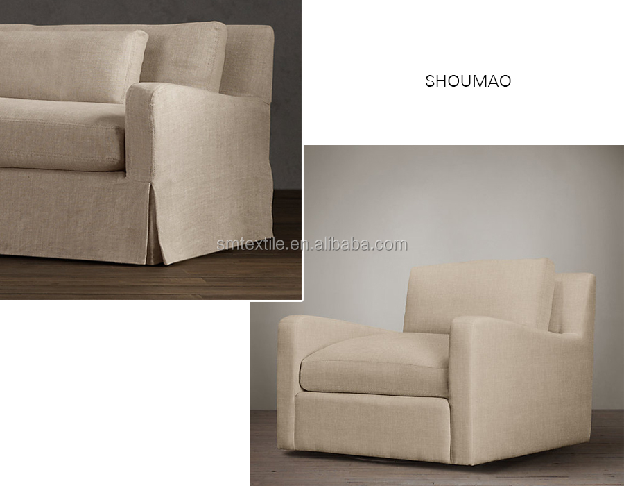 China Manufacturer Elegant Natural Linen Sofa Cover