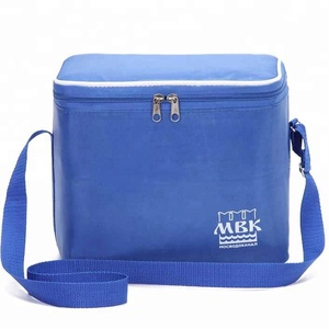 Big blue customized insulated cooler bags for food packaging