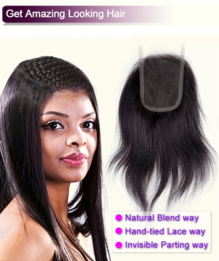 13x4 Nature Lace Closure Brazilian Hair Closure Lace
