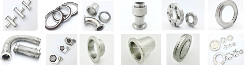 Stainless steel KF vacuum sealing fittings flex hose