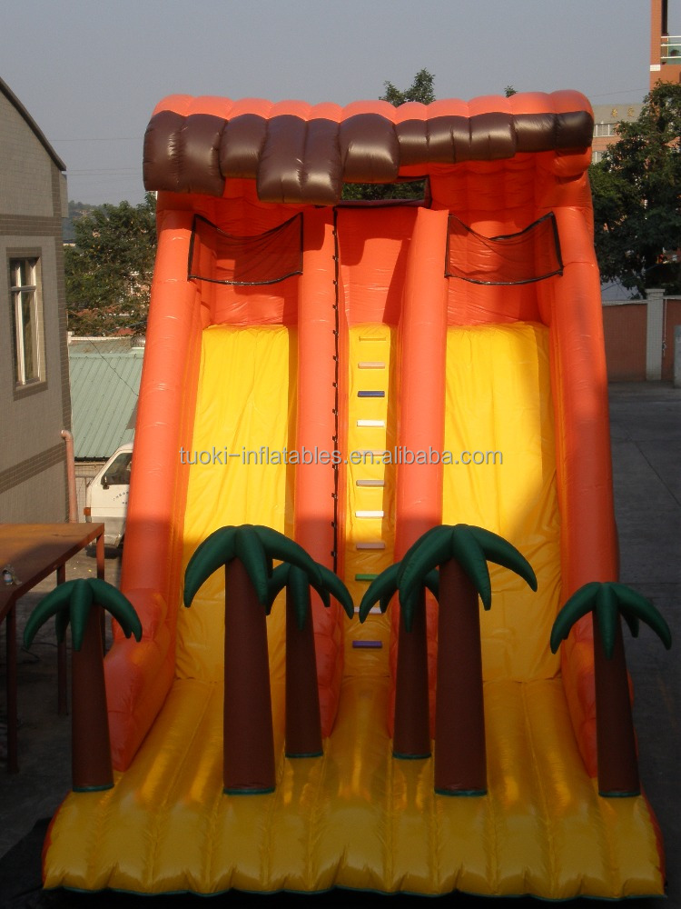 Giant used inflatale water park air slide