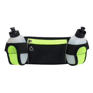 Waterproof waist pouch cell phone waistband running belt with water bottle