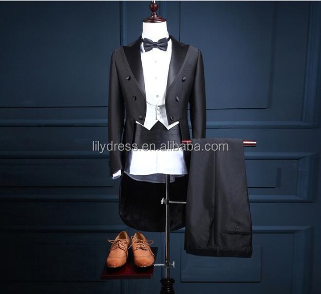 Esmoquin De Novio Padrino Chaqueta De Los Hombres De La Boda Vestido De  Fiesta Ropa Trajes (chaqueta + Pantalones + Chaleco) Na31 Negro Estilo De  Hombre ... 390f3c0fbf4