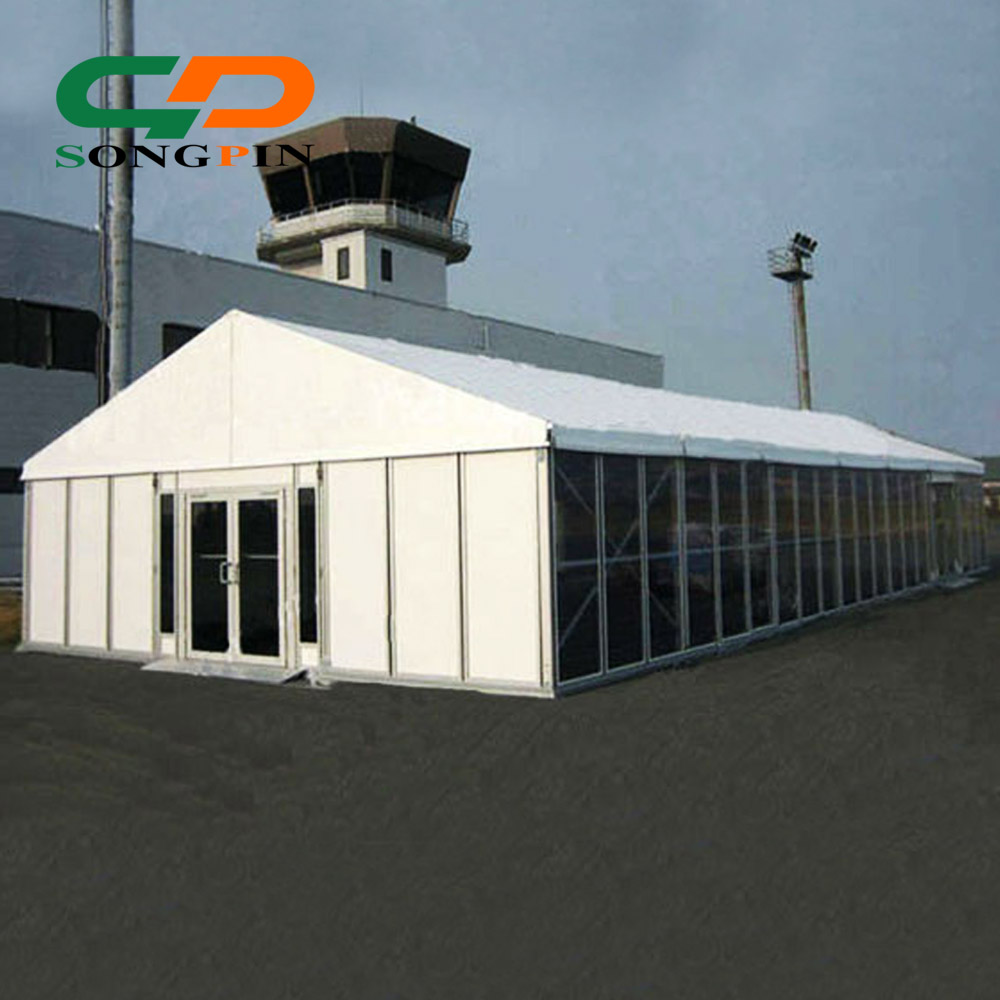 Hard Tempered Glass and Sandwich walling system Heavy Duty Party Tent 15x30m with doors