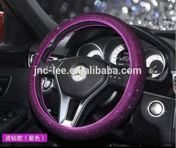 Small Moq 10 Days Delivery Cool Glitter Steering Wheel Cover For Car