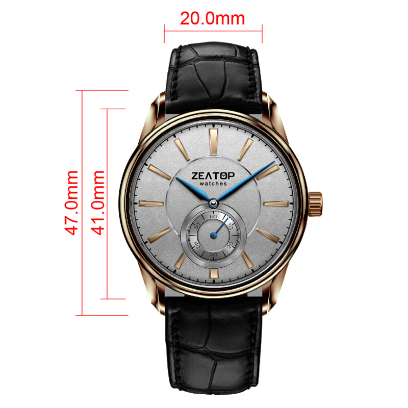 Blue Hands Laurine Gold Markers Wristwatch for Men