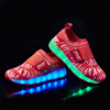 New design fly knit kids led shoes