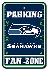 "Seattle Seahawks NFL ""Fan Zone"" Parking Sign 12"" x 18"""