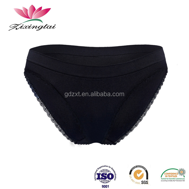 Factory wholesale lingerie soft nylon lace seamless active wear brief panties underwear