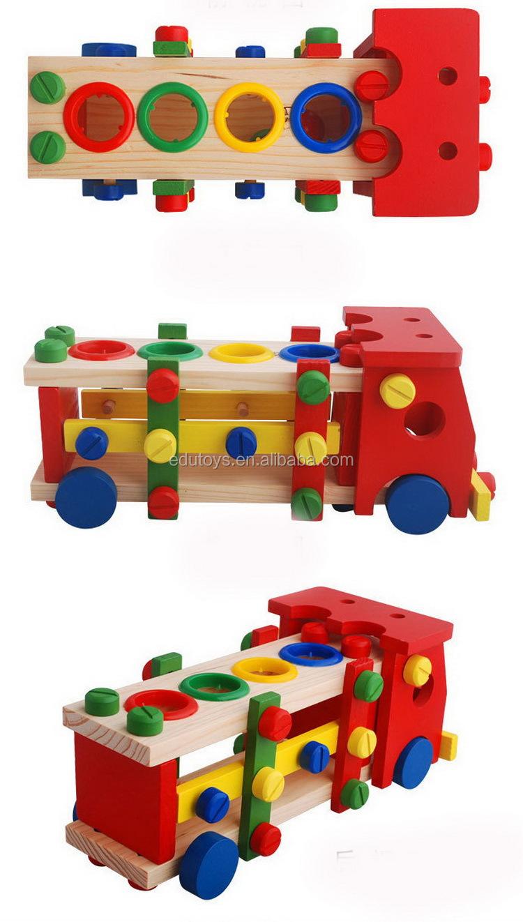 multifunction pound ball diy wooden tools vehicle baby u0027s mini