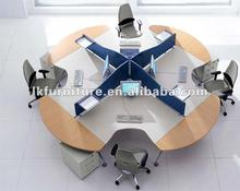 Modern Style Office Round Workstation For Four Persons