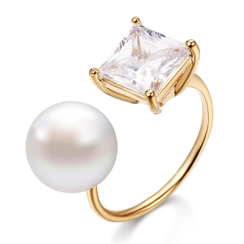 south gold eighteen carat sea pearl ps rings ring
