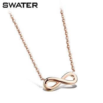 Joyería colgante de acero inoxidable infinito cadena accesorios de diseño  para las mujeres collar ca9a539d0220