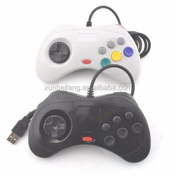 6 Boton Usb Sega Saturn Controlador De Juego Para Pc Mac Buy 6