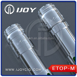 Ijoy stainless steel full mechanical mod Etop-M ecig mod 18650