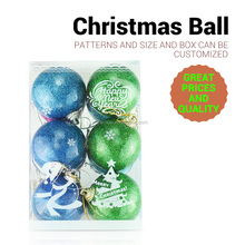 Manufacturer Stock 5cm Fashionable Christmas Tree Decorative Hanging Plastic Balls