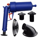Home Office Toilet Floor Drain Tubs Sinks Air Power Plunger Blaster Pump Cleaner
