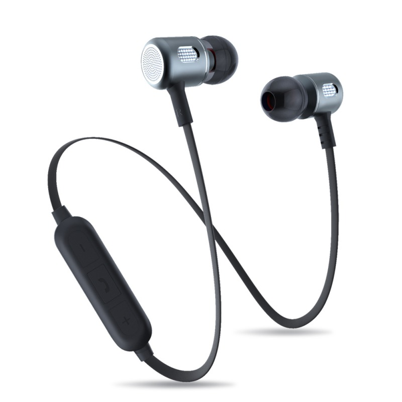 Metal magnetic Sports <strong>bluetooth</strong> 4.2 wireless earphones earbuds headphones