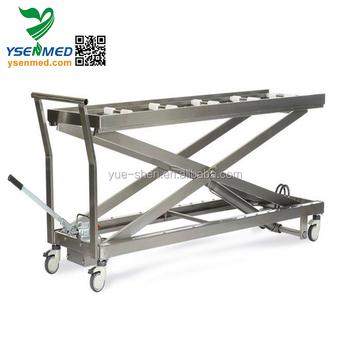 Yssjt-1b Hospital Stainless Steel Morgue Lifting Equipment Hydraulic  Mortuary Stretcher - Buy Mortuary Stretcher,Hydraulic Mortuary  Stretcher,Morgue