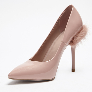 Fashionable style high heels light pink women's shoes shallow mouth dress shoes